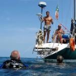 La Madonna recuperata sull'imbarcazione del Vela Club TI