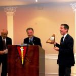M. Lucia, socio fondatore, il Presidente F. D'Asaro ed il Presidente della VII zona FIV I. Pipitone