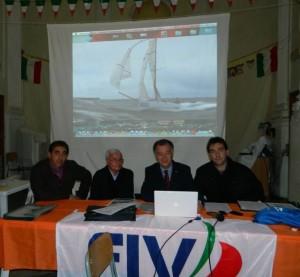 Il Vice presidente S. Palmisano, il Consigliere A. Patrone, il Presidente F. D'Asaro ed il Consigliere E. Piazza