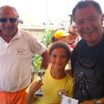 Il Presidente F. D'Asaro ed il Consigliere M. Lucia, Responsabile Sportivo, premiano le giovani promesse