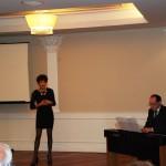 La soprano Eleonora Ciresi accompagnata dal maestro Peroverde